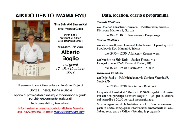 Alberto Boglio in FVG