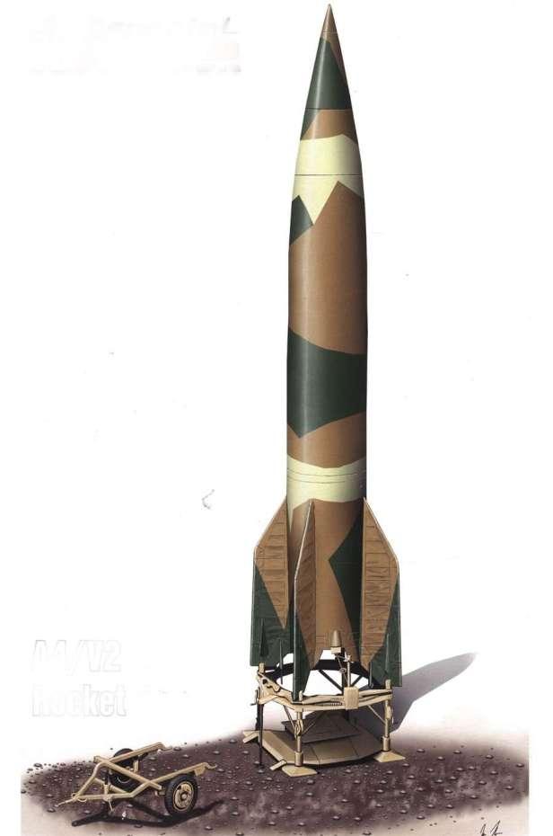 Raffigurazione artistica di un razzo V-2 / A4