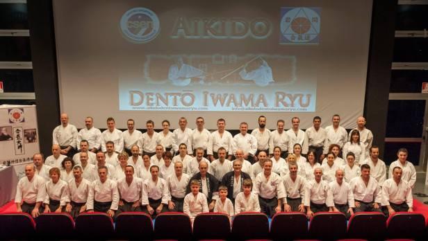 I partecipanti al 1° Kagami Biraki Biraki Dentō Iwama Ryu - Palarorrini, Ancona, 1 febbraio 2015