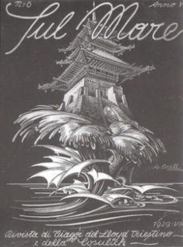 """A. Orell - Copertina de """"Sul Mare"""" (1929)"""