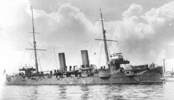 """L'incorciatore """"Chitose"""" della Marina Imperiale Giapponese, data non precisata."""