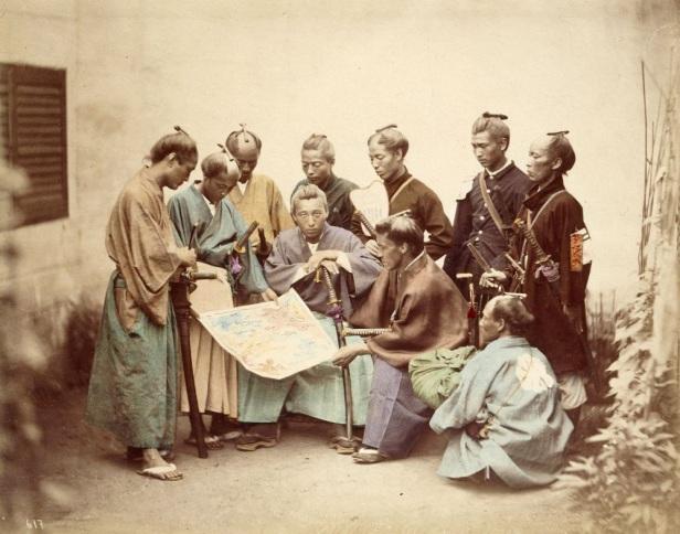 Samurai del clan Satsuma, alleati con la fazione imperiale (