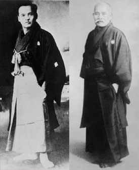 Sokaku Takeda e Morihei Ueshiba.