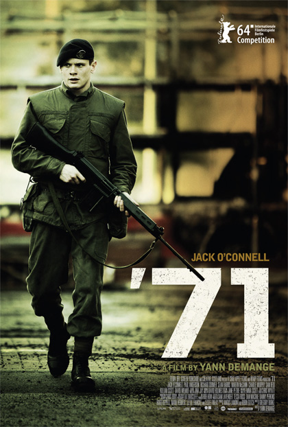 Locandina del film '71 di Yann Demange con Jack O'Connell.