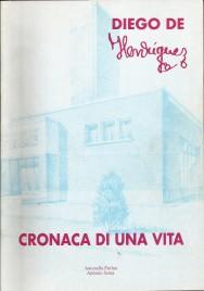"""Copertina di """"Cronaca di una Vita"""" (A.P.T., Trieste, 1993). Sullo sfondo: uno dei primi progetti per l'Istituto Storico e di Guerra per la Pace."""