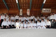 Iwama, 17 gennaio 2016. Foto di gruppo dei partecipanti al Kagami Biraki 2016.