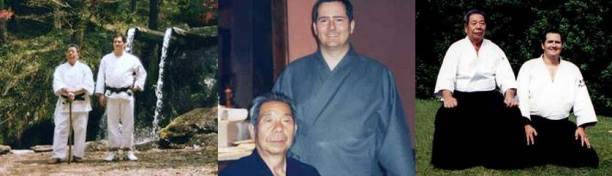Alcune immagini storiche di Alessandro Tittarelli assieme a Saito Morihiro Shihan.