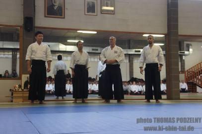 Alla conclusione del seminario: Yasuhiro Saito Sensei assieme ad Alessandro Tittarelli e Stefano Di Carlo.
