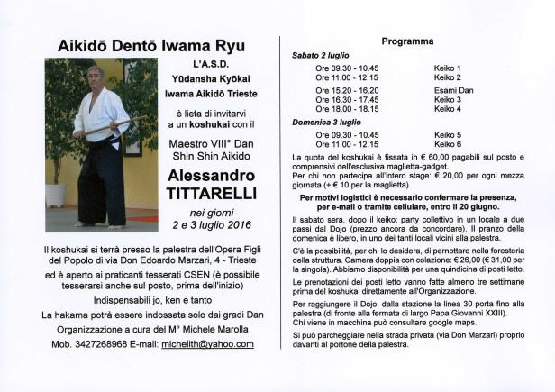 Stage Tittarelli TS 2016