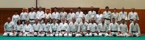 Foto di gruppo dei partecipanti al keiko di domenica mattina.