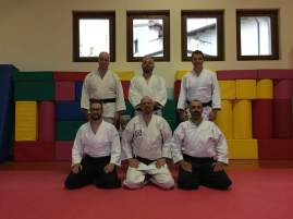 Bertiolo (UD), 6 maggio 2017: i partecipanti al keiko tra yudansha del Friuli Venezia Giulia