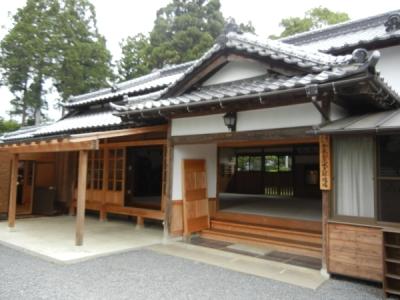 L'esterno dell'Ibaraki Dojo di Iwama.
