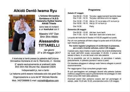 Il flyer di invito al seminario.