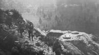 L'Imperatore Karl in visita alle rovine di Fort Hensel l'8 novembre 1917.