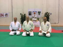 Summer Camp '17: Mauro Tomé ritratto assieme ad Alessandro Tittarelli Shihan e Tristao Da Cunha Shihan.