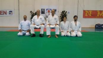 Summer Camp '17: Alessandro Tittarelli Shihan e Tristao Da Cunha Shihan assieme ad Enrico Neami, Francesco di Cosmo e Silvia D'Arrigo.