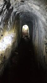 12/08/2017 - Il tratto interno del tunnel [4a], interamente scavato nella roccia.