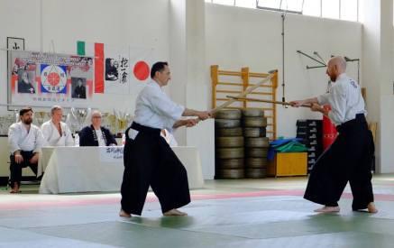 Modena, 21 aprile. L'esame nidan di Luca Cerretti (sx) e Antonello M. Sannicola (dx).