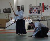 Modena, 21 aprile. L'esame yondan di Marco Manicardi (in piadi) [uke: M° Roberto Santoro.
