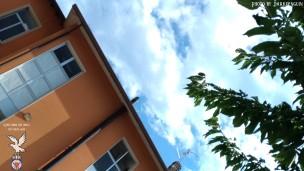 Scorcio del cortile della scuola dell'infanzia di Bertiolo.